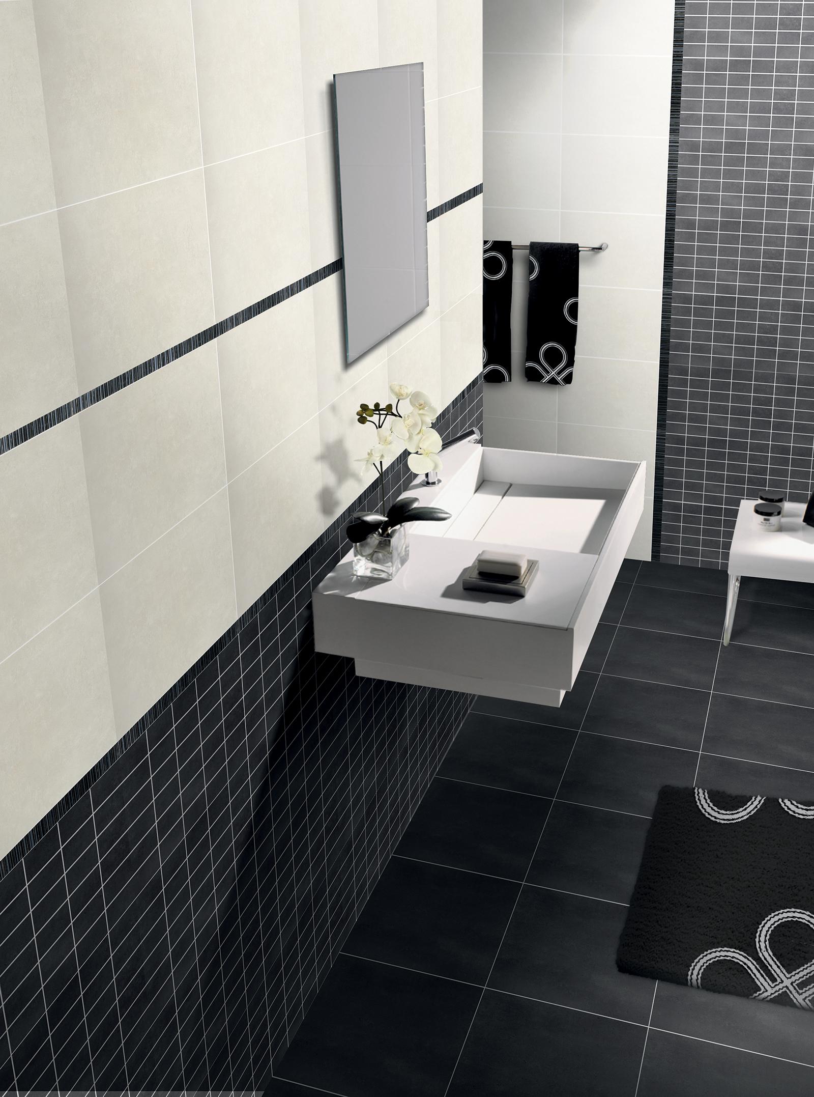 Bagni Mosaico Moderni. Bagno Moderno Con Taglio A Mano In Vetro Grigio Mosaico Case Semplici ...